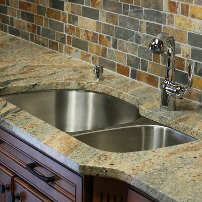 Quidnet 32.5 x 20.69 Double Bowl Undermount Kitchen Sink