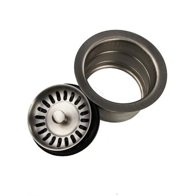 Premium Extended Flange Disposal Drain Finish: Brushed Stainless