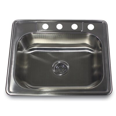 Madaket 25 x 22 Small Rectangle Single Bowl Kitchen Sink