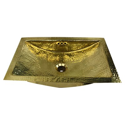 Brightwork Home Circular Undermount Bathroom Sink with Overflow Sink Finish: Brass