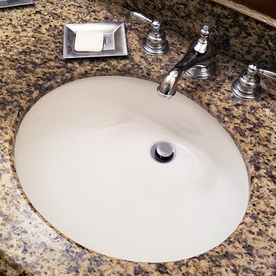 Great Point Vitreous China Oval Undermount Bathroom Sink with Overflow Sink Finish: White