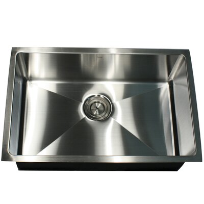 Pro Series 28 x 18 Rectangle Undermount Small Radius Stainless Steel Kitchen Sink