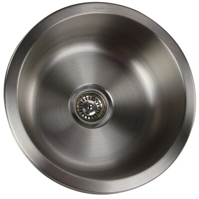 Quidnet 17.5 x 17.5 Round Undermount Stainless Steel Bar Sink