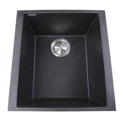 Plymouth 16.13 x 17 Bar Sink Finish: Black