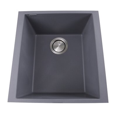 Plymouth 16.13 x 17 Bar Sink Finish: Titanium