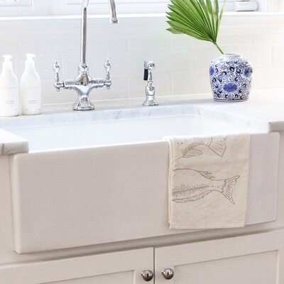 Cape 30 x 18 Single Bowl Farmhouse Kitchen Sink