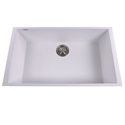 Plymouth 30 x 17.75 Undermount Kitchen Sink Finish: White