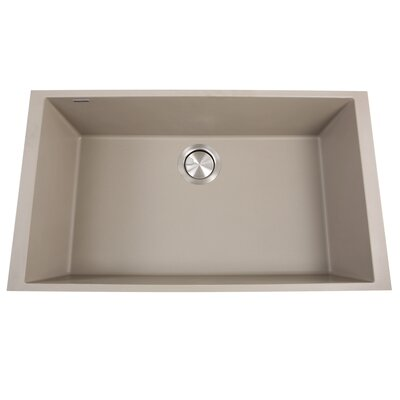 Plymouth 30 x 17.75 Undermount Kitchen Sink with Basket Strainer Finish: Truffle