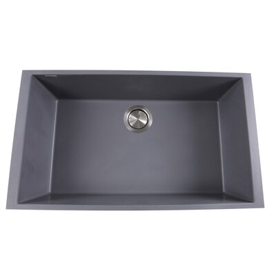 Plymouth 30 x 17.75 Undermount Kitchen Sink Finish: Titanium