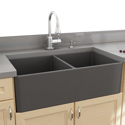 Cape 33.25 x 18 Double Bowl Apron Kitchen Sink