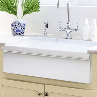 Cape 29.5 x 19.5 1 Basin Apron Farmhouse Kitchen Sink with Grid and Drain Assembly