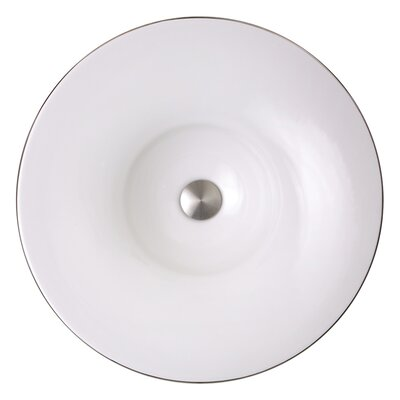 Regatta Ceramic Circular Vessel Bathroom Sink