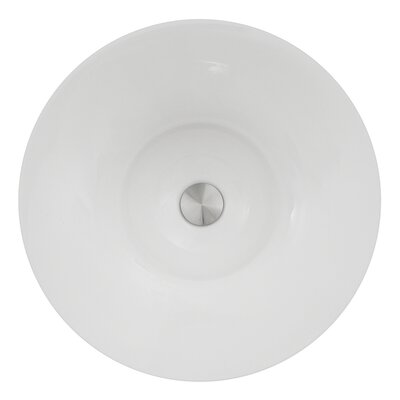 Regatta Dinard Italian Fireclay Circular Vessel Bathroom Sink