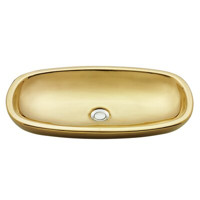 Dubai Italian Fireclay Oval Vessel Bathroom Sink