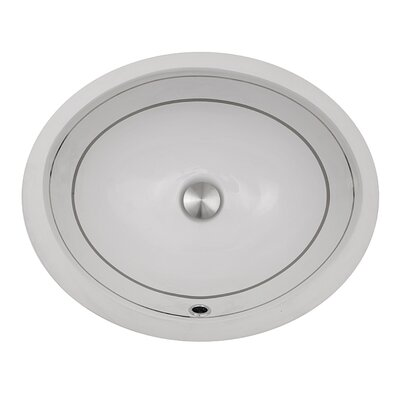 Regatta Izola Oval Undermount Bathroom Sink with Overflow