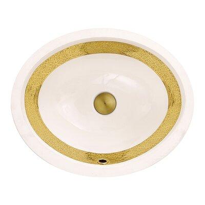 Regatta Ceramic Oval Undermount Bathroom Sink with Overflow