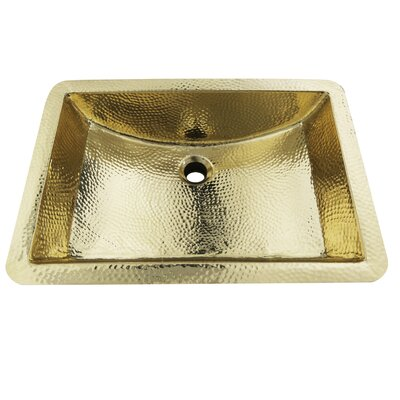 Brightwork Home Rectangular Undermount Bathroom Sink with Overflow