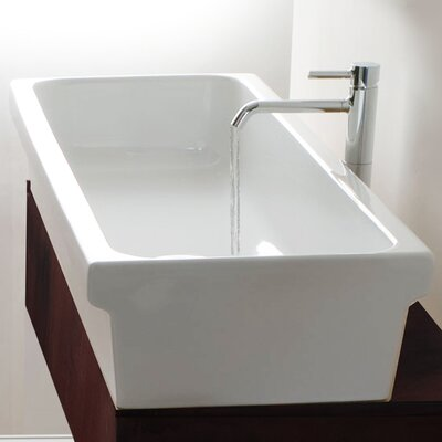 Italian Fireclay Rectangular Vessel Bathroom Sink