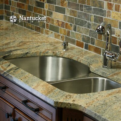 31.5 x 20.75 Offset Double Bowl Undermount Kitchen Sink