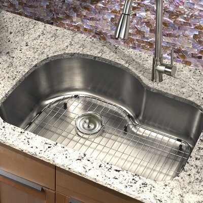 Sconset 31.5 x 21 New Moby Single Bowl Stainless Steel Kitchen Sink