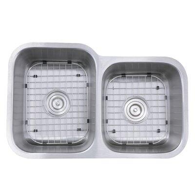 Sconset 31.5 x 20.19 Double Bowl Undermount Kitchen Sink