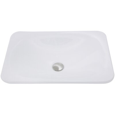 Great Point Vitreous China Rectangular Drop-In Bathroom Sink