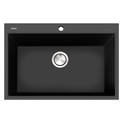 Plymouth 30 x 20 Drop In Kitchen Sink Finish: Black