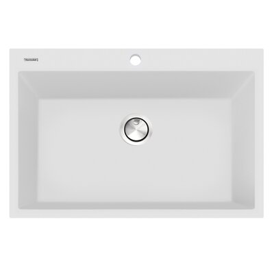 Plymouth 33 x 22 Undermount Kitchen Sink Finish: White