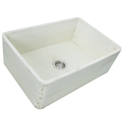 Fireclay 29.75 x 19.75 Farmhouse Kitchen Sink Finish: Shabby Straw