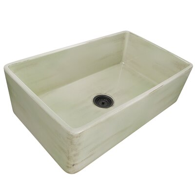 Fireclay 33 x 20 Farmhouse Kitchen Sink Finish: Shabby Green