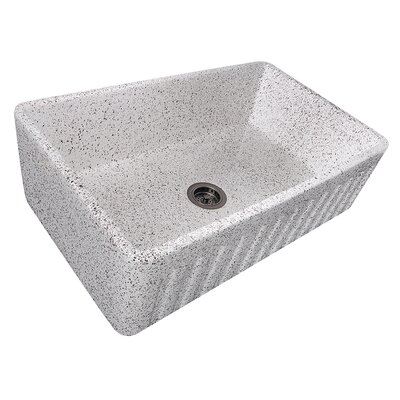 Fireclay 33 x 20 Farmhouse Kitchen Sink Finish: Pietra Sarda