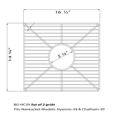 17 x 15 Sink Grid
