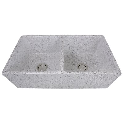 Vineyard 33 x 18 Double Basin Farmhouse Kitchen Sink Finish: Pietra Sarda