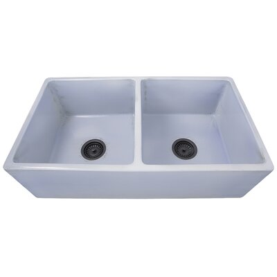 Vineyard 33 x 18 Double Basin Farmhouse Kitchen Sink Finish: Shabby Sugar