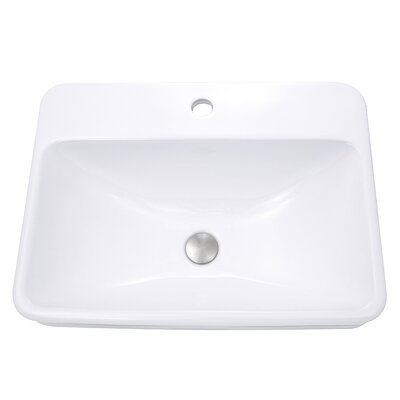 Rectangular Self Rimming Bathroom Sink