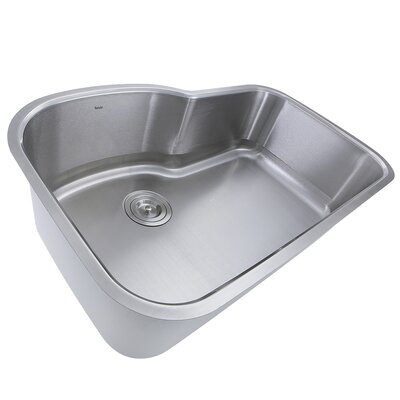 Single Bowl Oblong Stainless Steel 31.5 x 20.5 Undermount Kitchen Sink