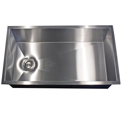 Pro Series 32 x 18 Zero Radius Stainless Steel Kitchen Sink