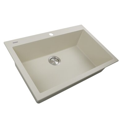 Plymouth 30 x 20 Drop In Kitchen Sink Finish: Sand