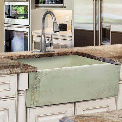 Vineyard Fireclay 29.75 x 19.75 Farmhouse Kitchen Sink Finish: Shabby Green