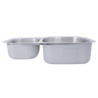 Sconset 32.5 x 20.69 Double Bowl Undermount Kitchen Sink