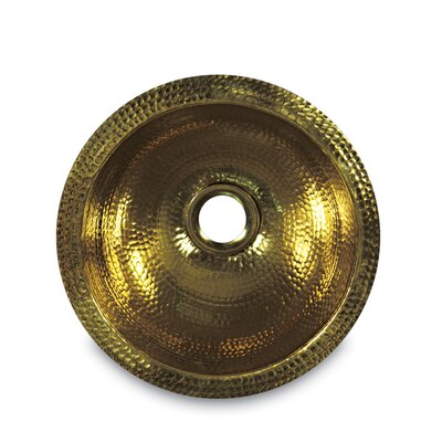Brightwork Home 13 x 13 Round Hammered Undermount Bar Sink Finish: Brass