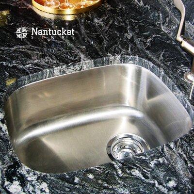 Quidnet 18.5 x 15 Rectangle 18 Gauge Stainless Steel Undermount Bar/Prep Kitchen Sink