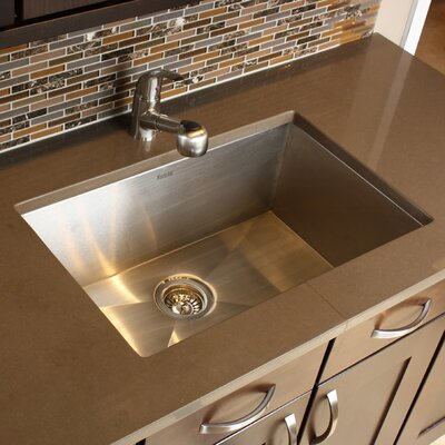 Pro Series 28 x 18 Zero Radius Large Single Bowl Undermount Kitchen Sink