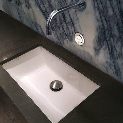 Great Point Ceramic Rectangular Undermount Bathroom Sink with Overflow Sink Finish: White