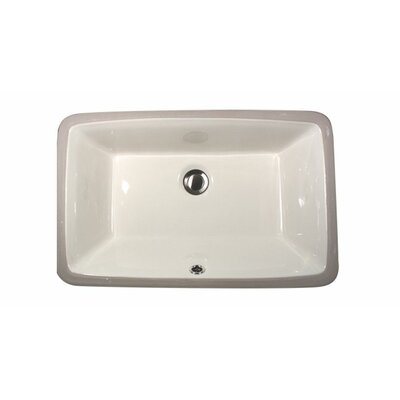Great Point Rectangular Undermount Bathroom Sink with Overflow Sink Finish: Bisque