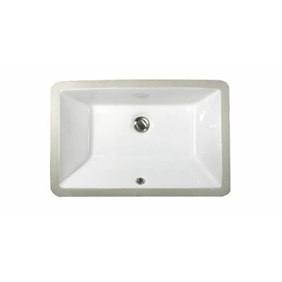 Great Point Rectangular Undermount Bathroom Sink with Overflow Sink Finish: White