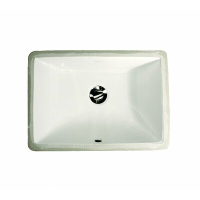 Great Point Rectangular Undermount Bathroom Sink with Overflow