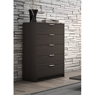 Decimus 5 Drawer Chest Color: Charcoal Gray