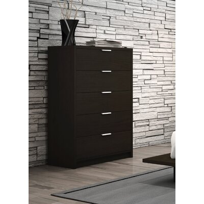 Decimus 5 Drawer Chest Color: Dark Espresso