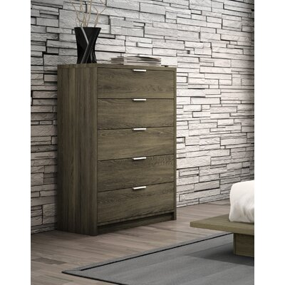 Decimus 5 Drawer Chest Color: Rustic Cinnamon